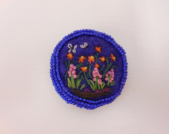 Secret Garden brooch