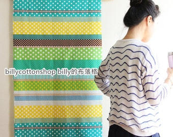 m136_55 - polka dots fabrics - cotton linen - in Half Yard ( 5 color to choose )