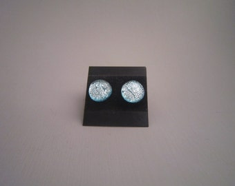 Small Sparkly Silvery Studs