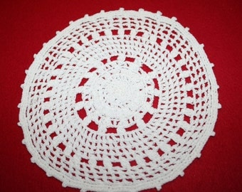 Vintage Hand Crocheted Doily- 8 inch