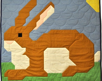 Bunny Baby Quilt Pattern instructions for multiple sizes