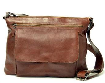 Leather Bag, Leather Messenger Bag, Leather Shoulder Bag | Men bag