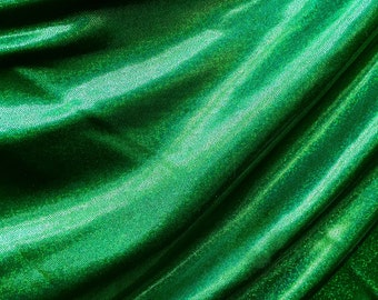 4-Way Stretch Mystique Metallic Spandex Fabric - Kelly