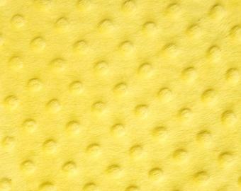 Minky Embossed Dot - Yellow