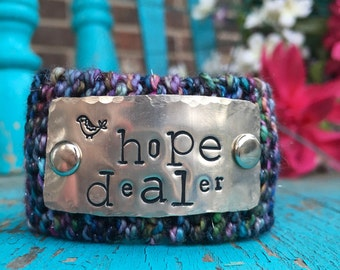 Custom Hand Stamped Christian Bracelet,  Inspirational Black Scripture Cuff Bracelet, Wrist Tattoo Cover, Womens Ministry Bracelet