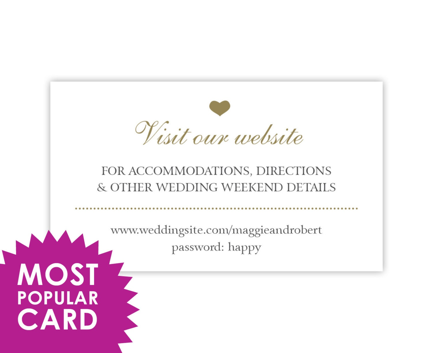 Wedding Website Cards Enclosure Cards Wedding Hashtag Cards or – Gift Registry Cards in Wedding Invitations