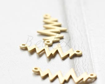 2 Pieces / Matte Gold Plated / Real Gold / Z / Link / Brass Base 21.9x11.3mm (C1728//G357)