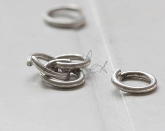 20 Pieces / Antique Silver Plated / Real Silver / Jump Rings / Brass Base / Ring / 10x1.5mm  (C429JP//E467A)