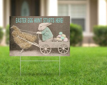 Easter Egg Hunt Printable Sign | Instant Download | Easter