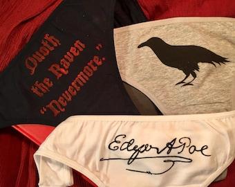 Edgar Allan Poe Raven triple panty set