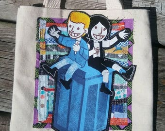 Bill and Teds Excellent Adventure phone booth small tote bag funky remnants