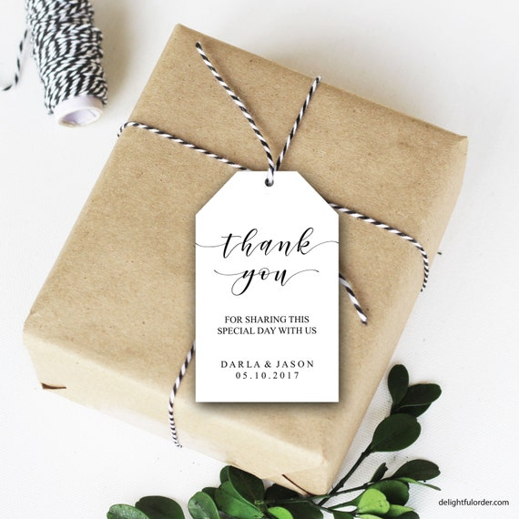Wedding Shower Favor Tag Template : Thank You Tags, Wedding Favor Tags, Shower Thank You, Party Tag ...
