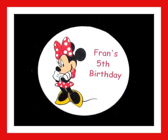 Birthday Party Favors, Personalized Button,Girl Mouse Pin Favor,School Favors,Kids Party Favors,Boy Birthday,Girl Birthday,Pins, Set of 10