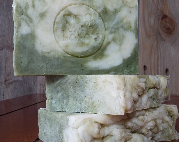 MultiMint Soap -- AllNatural Soap, Handmade Soap, Essential Oil Soap, HotProcess Soap, Vegan Soap, Peppermint Spearmint Soap, Barely-Scented