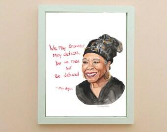 Maya Angelou Portrait, inspiring women, Uplifting