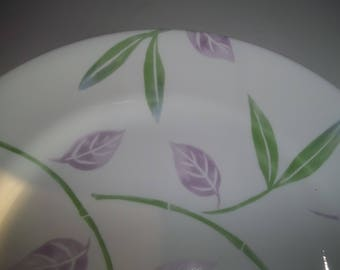 4  Corningware Dinnerware Bamboo  Stem with Lavender Leafs