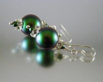 Irridescent Pearl Earrings