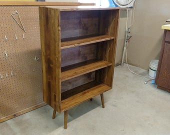 Mid Century Bookcase - MADE TO ORDER