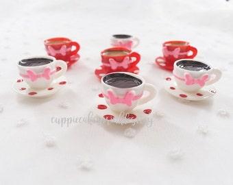 4pcs - Minnie Polka Dot Teacup Mix Decoden Cabochon (16x26mm) MSC033