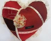 True Love Red Heart Pillow