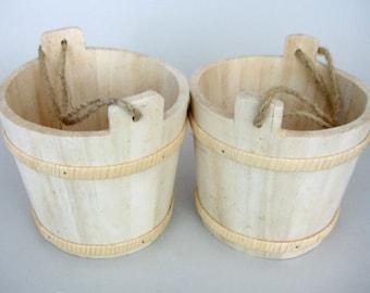 Wood Bucket, Craft Wood Bucket, Unfinished Wood Bucket, Natural wood