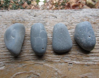 RUSTIC Blue SLAG Beach Stone Cabinet KNOBS Blue Beach Stone Drawer Pulls