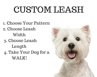 Custom Dog Leash, Create Your Own Leash, Cool Dog Leash, Cute Dog Leash, Dog Gift, Puppy Gift, Dog Leash, Pet Supplies, Pet Accessory