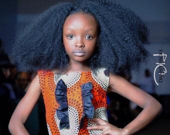 Pretty Ankara girl dress, African girl dresses, Pretty Ankara girl dresses, African Clothing, Angelina African print Dress