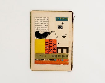 Original paper collage, vintage paper collage, collage art