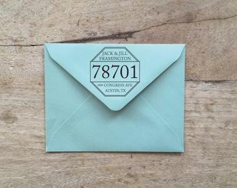 """Custom Octave Return Address Rubber OR Self-Ink Stamp 2"""" or 2.5"""""""