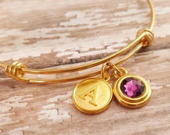 SALE Customizable Stacking Bracelet- Bangle Bracelet -Bridesmaid Bracelet -Flowergirl Bracelet - Teacher Bracelet - Christmas Gift - Wedding