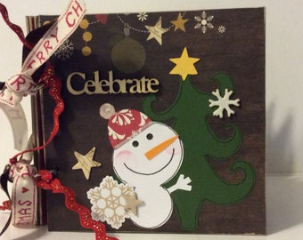 Christmas Scrapbook chipboard album simple stories cozy christmas