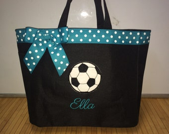Personalized Soccer Ball Sport Tote Bag Diaper Bag