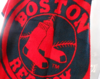 BOSTON RED SOX Biederlack Throw Blanket Acrylic Poly Washable