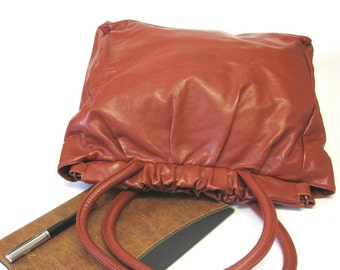 Vintage Rust Brown Extra Large Hobo Purse