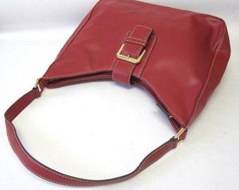 Vintage Red Buckle Purse Liz Claiborne Shoulder Bag