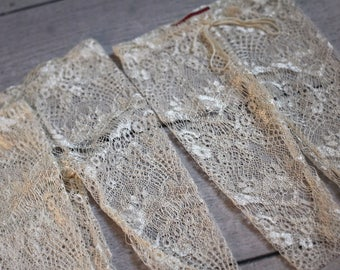Lace Pants /Newborn Girl Lace Leggings / Off White