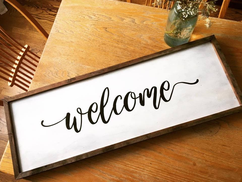 Welcome Rustic Wooden Sig...