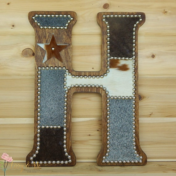 Cowhide Wall Letter H Made To Order Western Home Decor