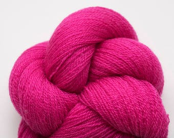 Process Magenta Recycled Lace Weight Merino Yarn, MER00249