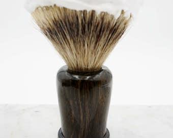 Shave Brush in RARE Bog Wood