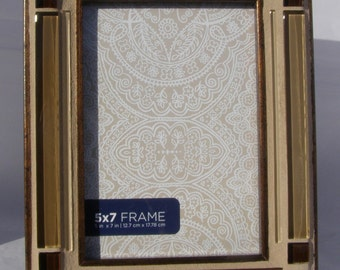 brown copper 5 x 7 photo frame glass picture frame brown unisex frame neutral decor