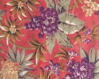 Rites of Spring Rose/Coral Fabric, by Brannock/Patek, for Moda Fabrics, 100 Percent Cotton, Fabric by the Yard