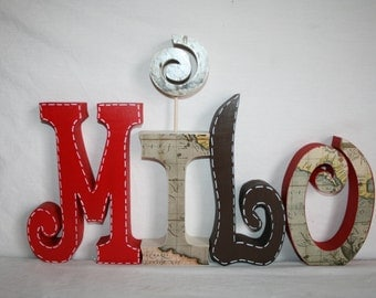 wooden letters nursery letters wooden letters for nursery 4 letter set world map decor wood letters wooden letters for nursery