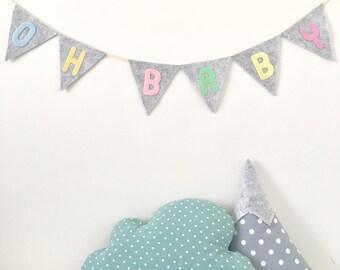 Oh Baby Felt Alphabet Bunting, Banner, Garlands
