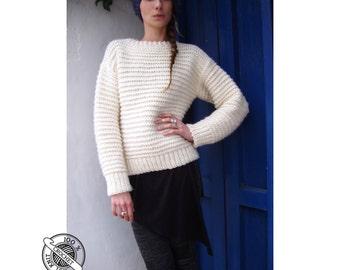 Bulky Garter Sweater - Crochet Pattern - Instant Download Pdf