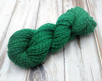 Emerald Green Licorice Twist Merino Wool DK Yarn Light Worsted 4oz 280yds