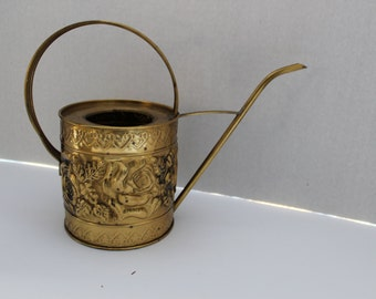 Brass Watering Can Lombard Made in England Brass Watering Can with Roses