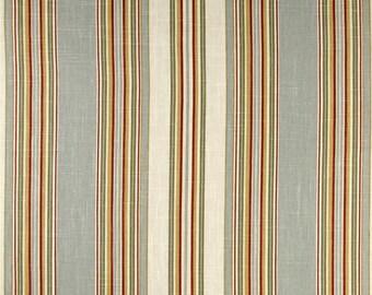 Waverly Robins Egg Blue Stripe Rod Pocket Curtains Waverly Stripe Curtain Panels 50x84 50x96 50x108