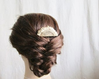 Elk Antler Bridal Hair Comb - WOODLAND DAWN - Nature Wedding Horn Hair Comb